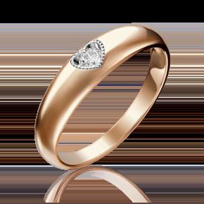Помолвочное кольцо из красного золота с бриллиантом 01-5161-00-101-1110-30