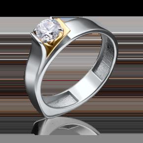 Кольцо из лимонного золота с бриллиантом 01-5181-00-101-1121-30