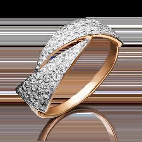 Кольцо из красного золота с бриллиантом 01-3773-00-101-1110-30