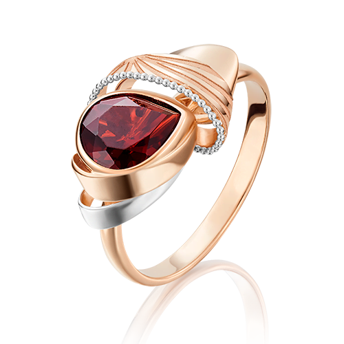 Кольцо из красного золота гранатом 01-5076-00-204-1110-57