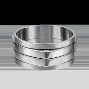 Обручальное кольцо из белого золота с бриллиантом 01-5185-00-101-1120-30