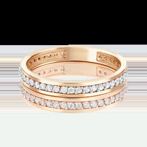 Обручальное кольцо из красного золота с фианитом 01-2780-00-401-1110-24