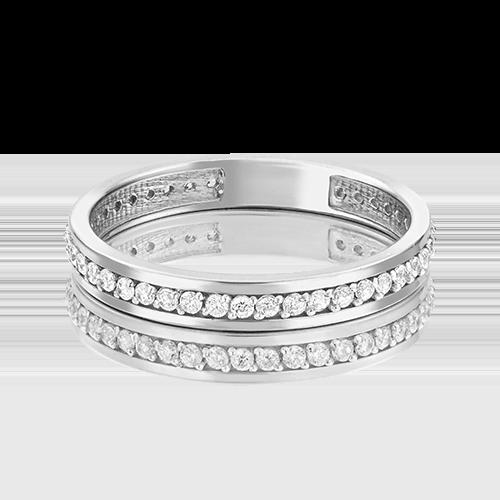 Обручальное кольцо из белого золота с фианитом 01-2781-00-401-1120-24