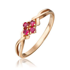 Кольцо из красного золота с рубином 01-0821-00-104-1110-30