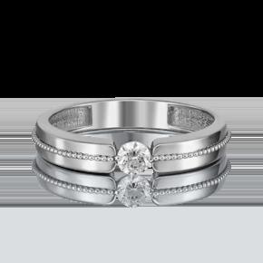 Помолвочное кольцо из белого золота с бриллиантом 01-5120-00-101-1120-30