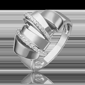 Кольцо из белого золота с фианитом 01-5419-00-401-1120-48