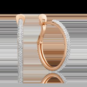 Серьги-конго из красного золота с бриллиантом 02-3258-00-101-1110-30