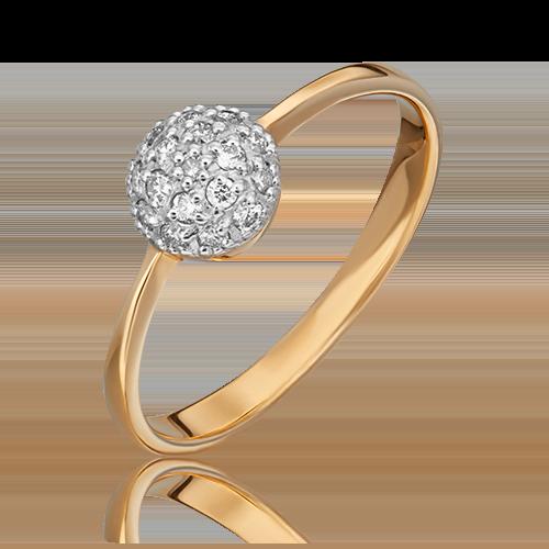 Кольцо из красного золота с бриллиантом 01-0601-00-101-1110-30