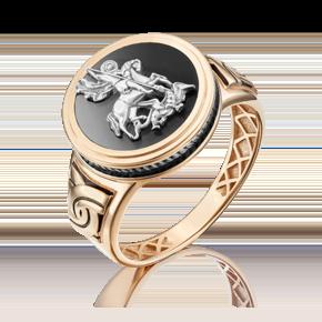 Печатка из комбинированного золота с эмалью 01-4827-00-000-1111-25