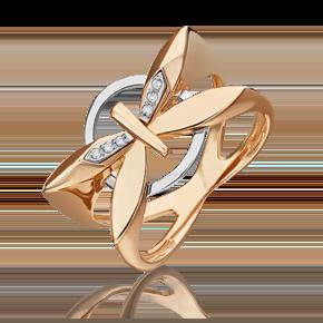 Кольцо из комбинированного золота с бриллиантом 01-5493-00-101-1111