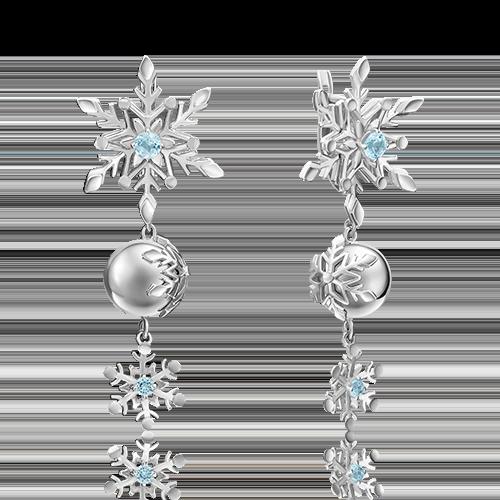 Серьги из серебра с топазом 02-4725-00-201-0200-68