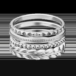 Наборное кольцо из серебра 13-0011-00-000-0200-68