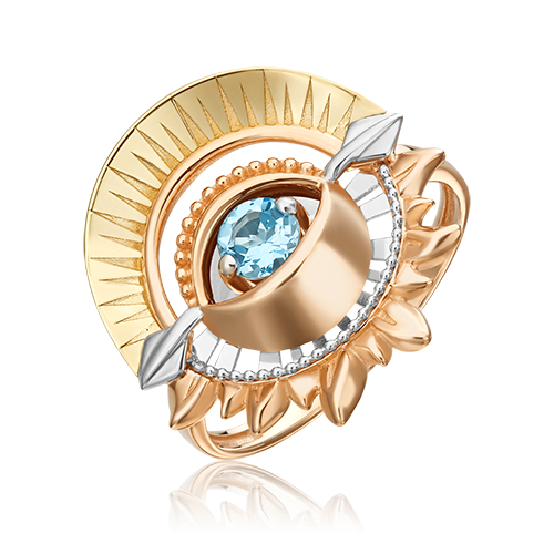 Кольцо из комбинированного золота с топазом 01-5478-00-201-1140-76