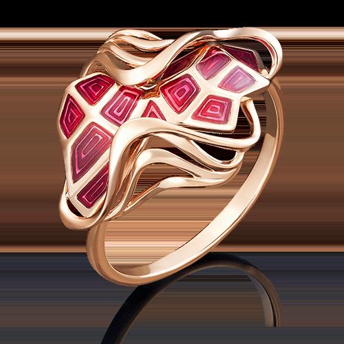 Кольцо из красного золота эмалью 01-4907-00-000-1110-25