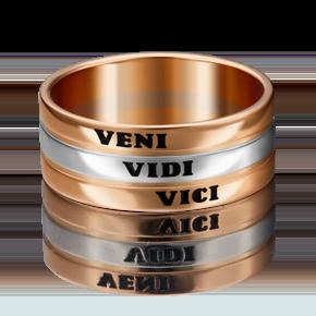 Обручальное кольцо из комбинированного золота с эмалью 01-4915-00-000-1111-39