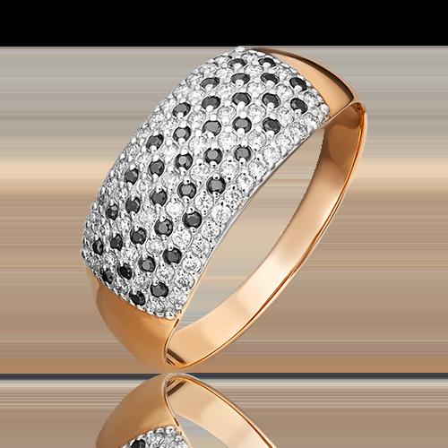 Кольцо из красного золота с бриллиантом 01-1489-00-108-1110-30