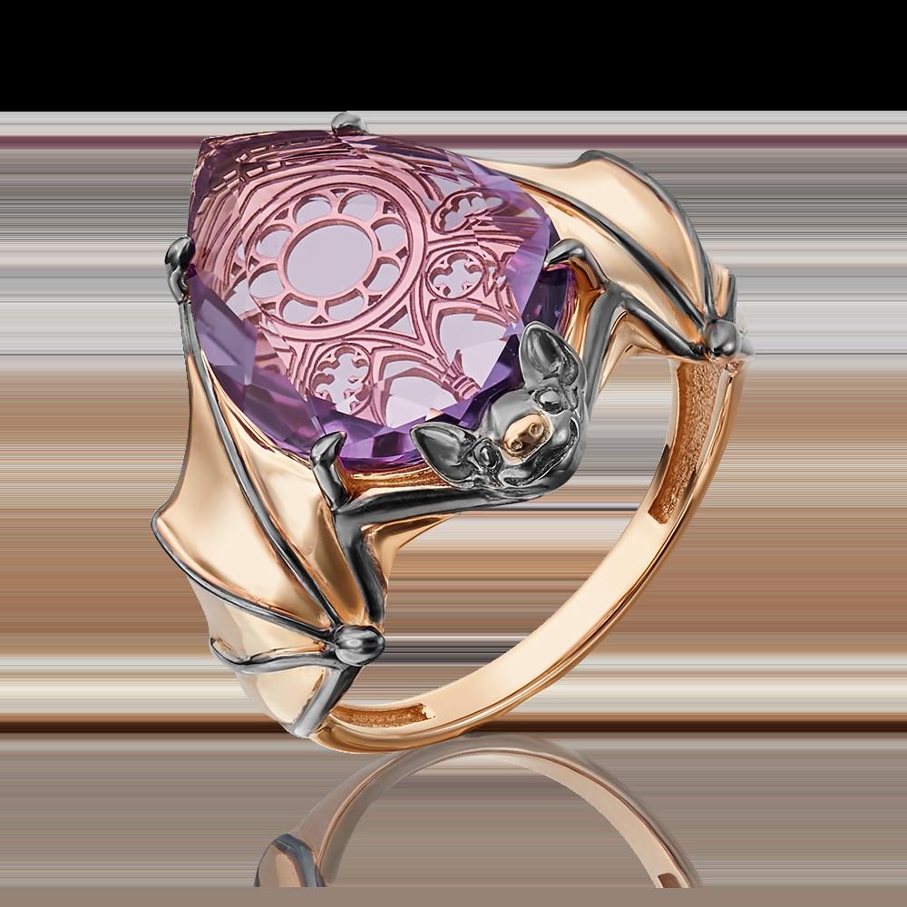 Кольцо из красного золота с аметистом 01-5320-00-203-1110-46