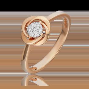 Кольцо из красного золота с бриллиантом 01-5541-00-101-1110-30