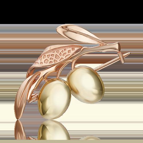 Брошь из комбинированного золота