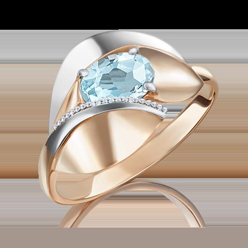 Кольцо из комбинированного золота топазом 01-5081-00-201-1111-46