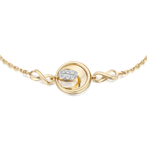 Браслет из лимонного золота с топазом white 05-0718-00-201-1121