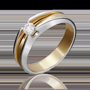 Помолвочное кольцо из лимонного золота с бриллиантом 01-5177-00-101-1121-30