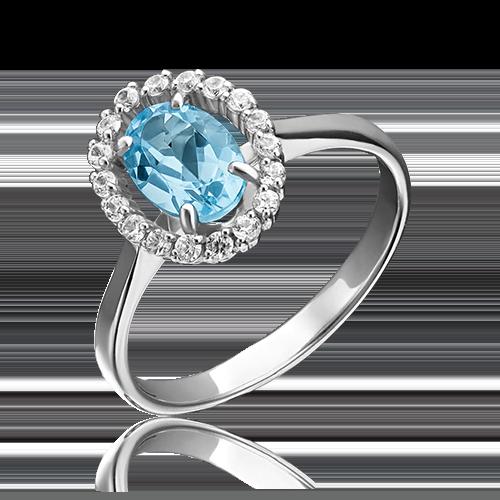 Кольцо из белого золота 01-4262-00-284-1120-46