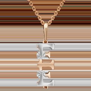 Подвеска из комбинированного золота с фианитом огр.SW 03-3119-Е-501-1111-38