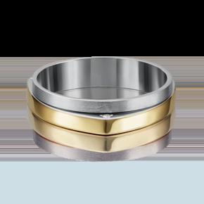 Обручальное кольцо из лимонного золота с бриллиантом 01-5185-00-101-1121-30