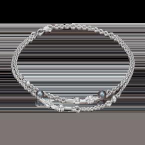 Браслет из серебра с жемчугом культивированным и фианитом 05-0593-00-302-0200-69