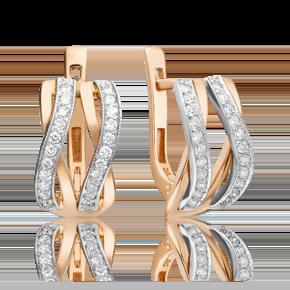 Серьги из комбинированного золота с бриллиантом 02-4830-00-101-1111-30