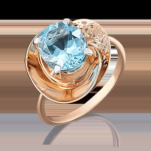 Кольцо из красного золота с топазом 01-4951-00-201-1110-46