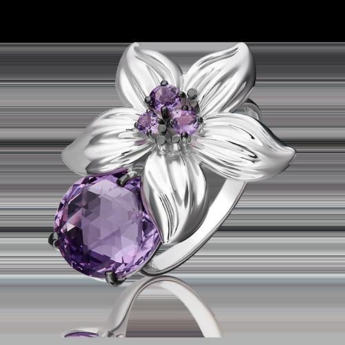 Кольцо из серебра с аметистом 01-5492-00-203-0200-68