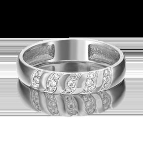 Обручальное кольцо из платины с бриллиантом 01-1488-00-101-2100-30