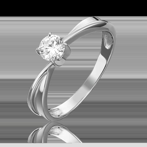 Кольцо из белого золота с бриллиантом 01-0758-00-101-1120-30
