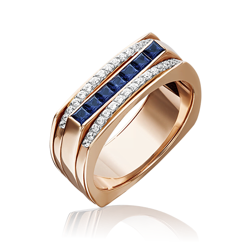 Кольцо из красного золота 01-5237-00-105-1110-30