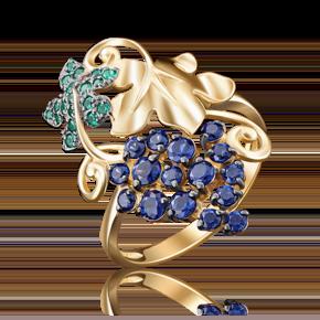 Кольцо из лимонного золота с фианитом 01-4839-00-404-1130-24