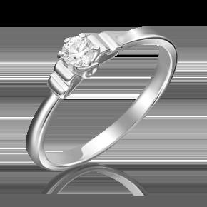 Помолвочное кольцо из белого золота с бриллиантом 01-5224-00-101-1120-30