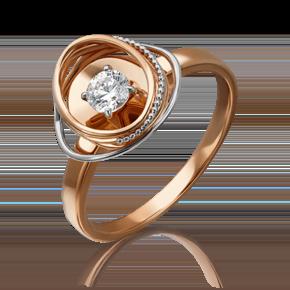 Кольцо из красного золота с бриллиантом 01-5242-00-101-1110-30