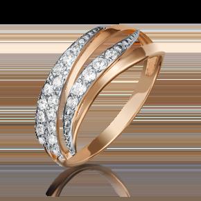 Кольцо из красного золота с бриллиантом 01-3892-00-101-1110-30