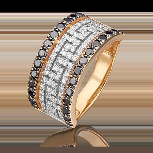 Кольцо из красного золота с бриллиантом 01-5507-00-108-1110-30