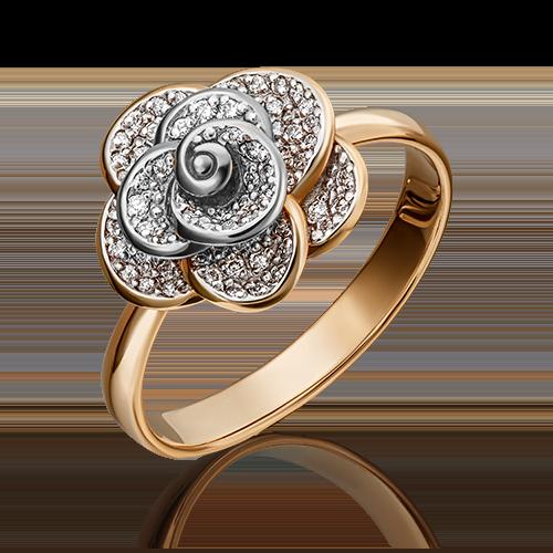 Кольцо из комбинированного золота с бриллиантом 01-1601-00-101-1111-30