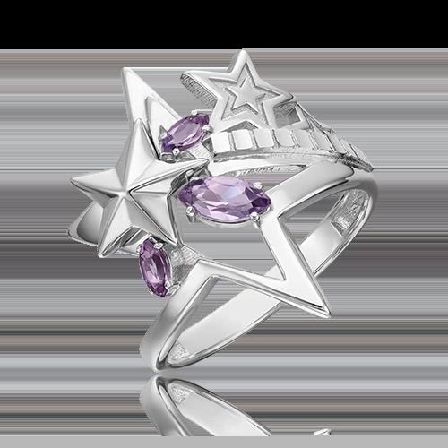 Кольцо из серебра с аметистом 01-5470-00-203-0200-69