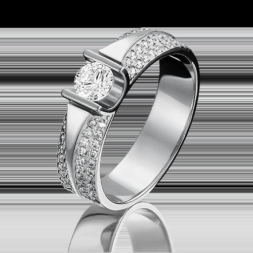 Кольцо из белого золота 01-1275-00-502-1120-38