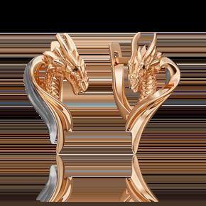 Серьги с английским замком из комбинированного золота 02-4686-00-000-1111-74