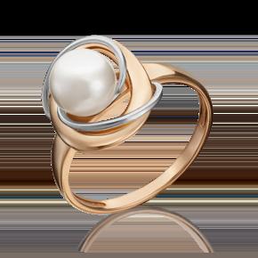 Кольцо из комбинированного золота с жемчугом культивированным 01-5341-00-301-1111-31