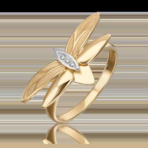 Кольцо из лимонного золота с бриллиантом 01-5495-00-101-1121