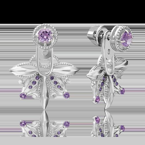 Серьги из серебра с аметистом и эмалью 02-4736-00-203-0200-69