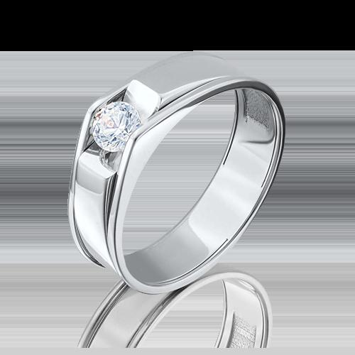 Помолвочное кольцо из белого золота с бриллиантом 01-5075-00-101-1120-30