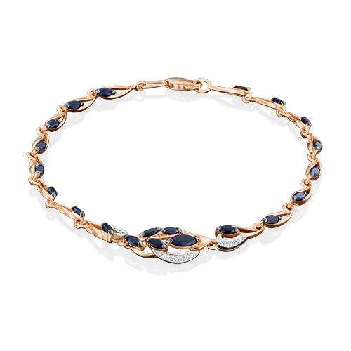 Браслет из комбинированного золота с фианитом 05-0571-00-404-1111-24